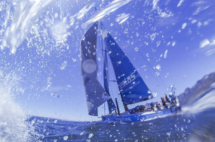 Volvo Ocean Race Danish Team Vestas Wind runs aground