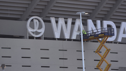 Ir al VideoEl Wanda Metropolitano se prepara para la fiesta de la inauguración