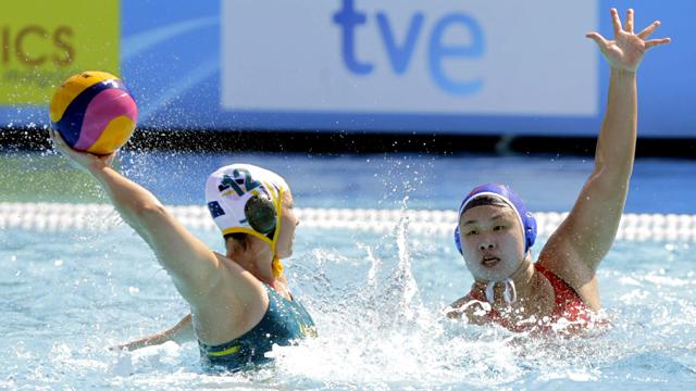 Waterpolo femenino. Fase de grupos:  Australia - China