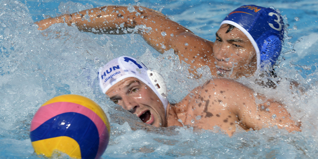 Waterpolo masculino. Fase de grupos: Hungría - China