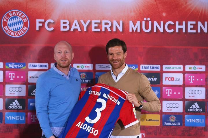 Xabi Alonso, durante su presentación como nuevo jugador del Bayern de Múnich.