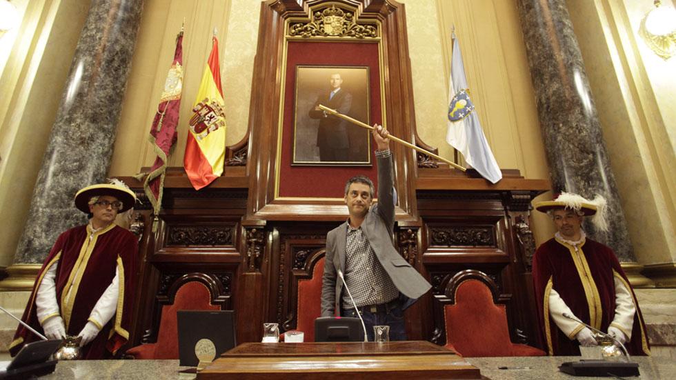 Xulio Ferreiro, de Marea Atlántica, es el nuevo alcalde de A Coruña