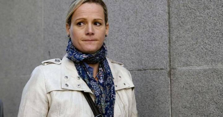 Zaida Cantera, el pasado 11 de marzo a la salida del Congreso