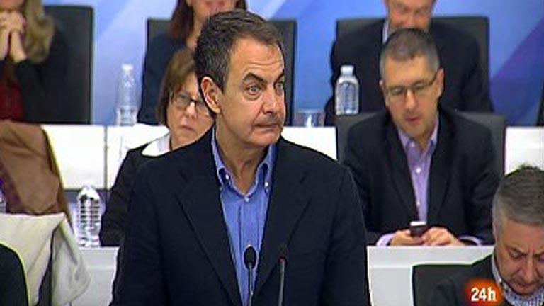 Zapatero culpa a la crisis de la derrota electoral