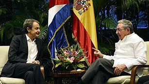 Zapatero y Moratinos se reúnen con Raúl Castro en La Habana
