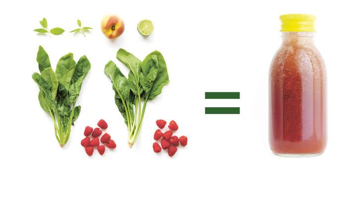 Zumos de verduras y frutas para agar salud