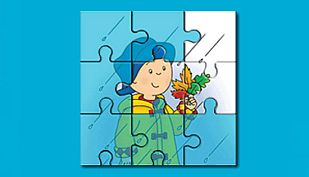 Juego Caillou puzzle
