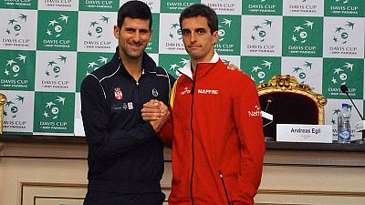 Resultado de imagen de Djokovic y Ramos abrirán el duelo entre Serbia y España