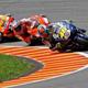 17.2007: En la carrera de MotoGP, Stoner, Rossi y Pedrosa acaban en menos de un segundo.