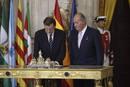 Ir a Fotogaleria Juan Carlos I sanciona la ley de abdicación de la Corona en el Palacio Real