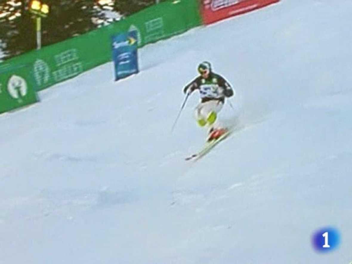 Campeonatos del Mundo de Esquí de estilo libre que se están celebrando en Utah. El francés de 23 años Guilbautha ha desbancado al campeón Olímpico, el canadiense Bilodeau en la prueba de baches.