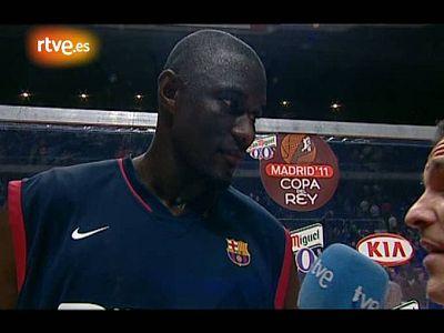 El pívot del Barça firmó una notable actuación contra el DKV Joventut