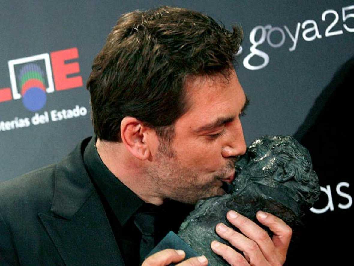 El actor Javier Bardem, Goya  2011 a la Mejor Interpretación Masculina Protagonista por 'Biutiful'