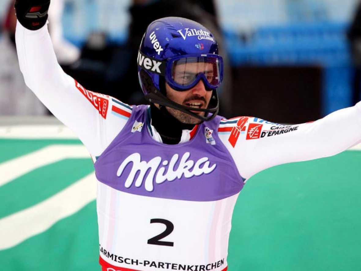 El francés Jean-Baptiste Grange ha ganado el eslalon, la última prueba de los XLI Mundiales de esquí alpino, disputados en la estación alemana de Garmisch-Partenkirchen.