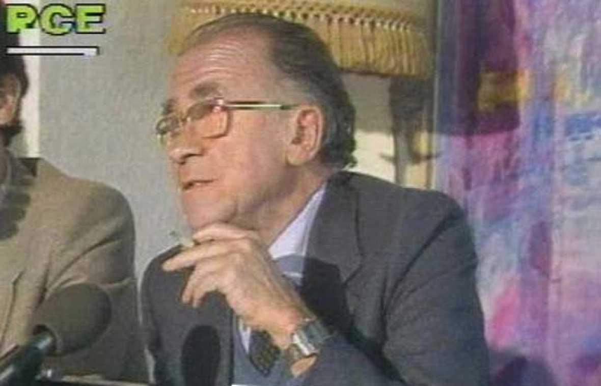 Acto con Anguita y Carrillo en la campaña de 1982.