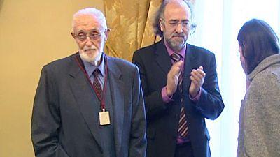 José Luis Sampedro ha recibido hoy la orden de las artes y las letras de España