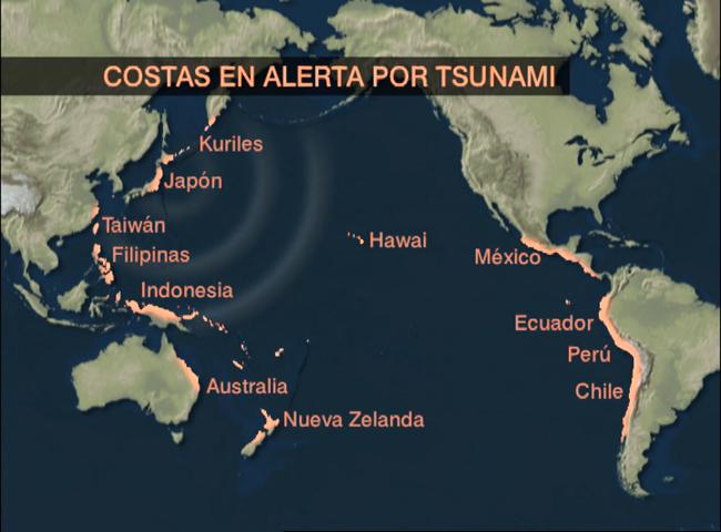 tras el sesmo de japn se ha declarado la alerta de tsunami en una veintena de reproducir video