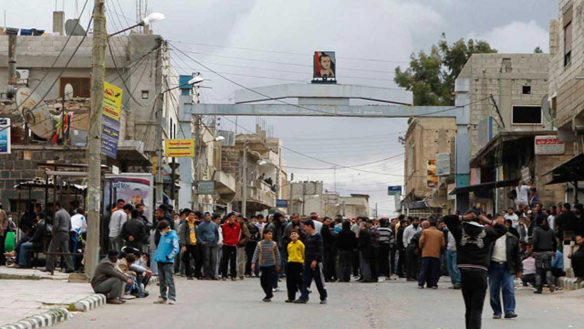 Vídeo que muestra supuestamente la represión en Deraa