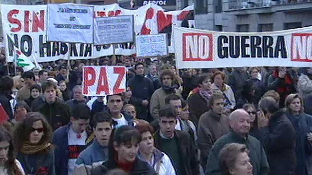 Manifestación contra la guerra de Irak en 2003