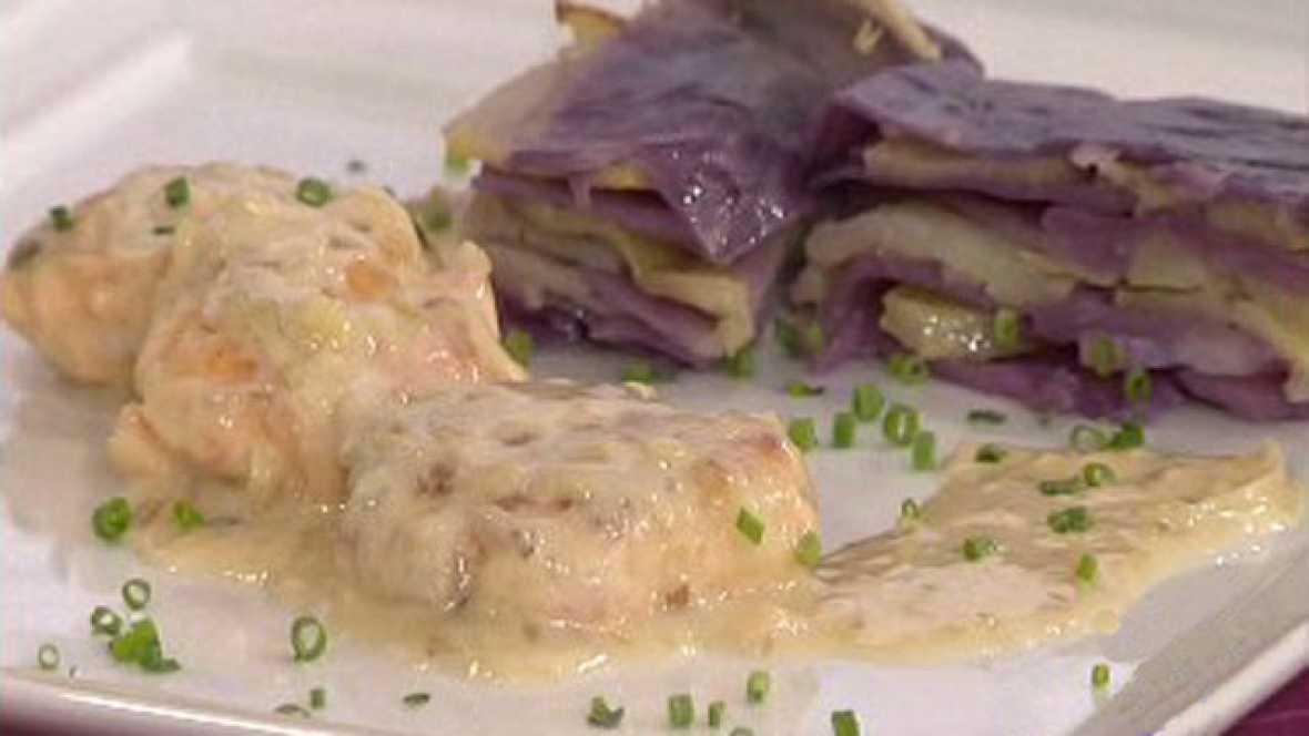 Filetes rusos de salm n con lasa a de patata y lombarda for Cocinar lombarda