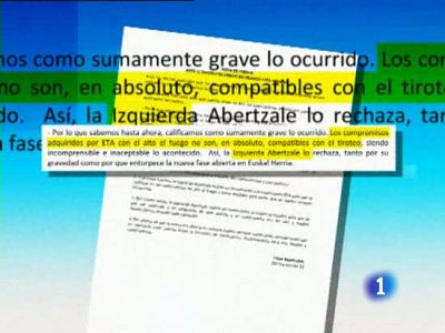 Bildu admite que el tiroteo va contra el Acuerdo de Gernika, que exigía a ETA una tregua