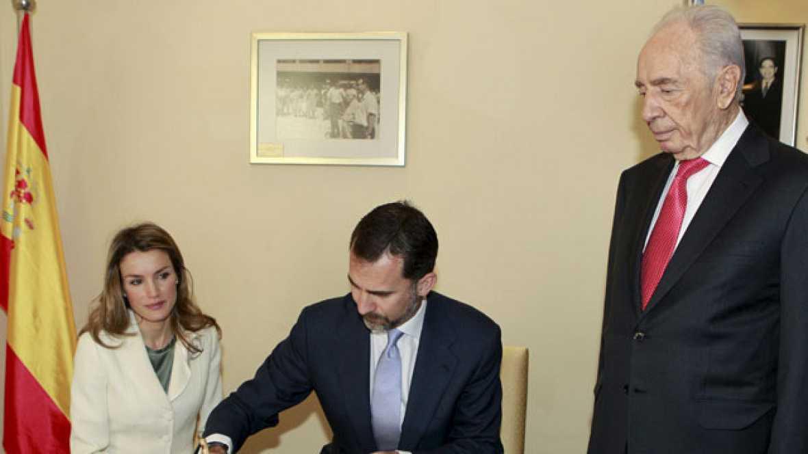 El príncipe Felipe anima en Israel a avanzar hacia el reconocimiento del Estado palestino