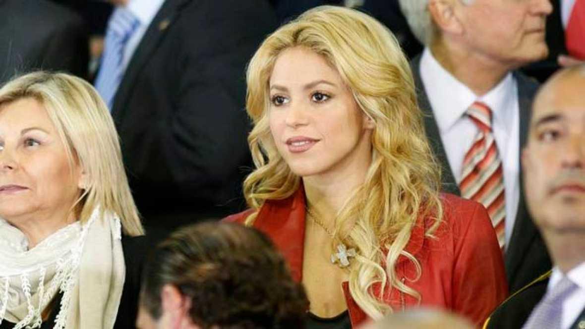 La cantante colombiana Shakira, novia de Gerard Piqué, sufrió en la primera parte de la final con las ocasiones del Madrid sobre el equipo de su pareja, el Barça