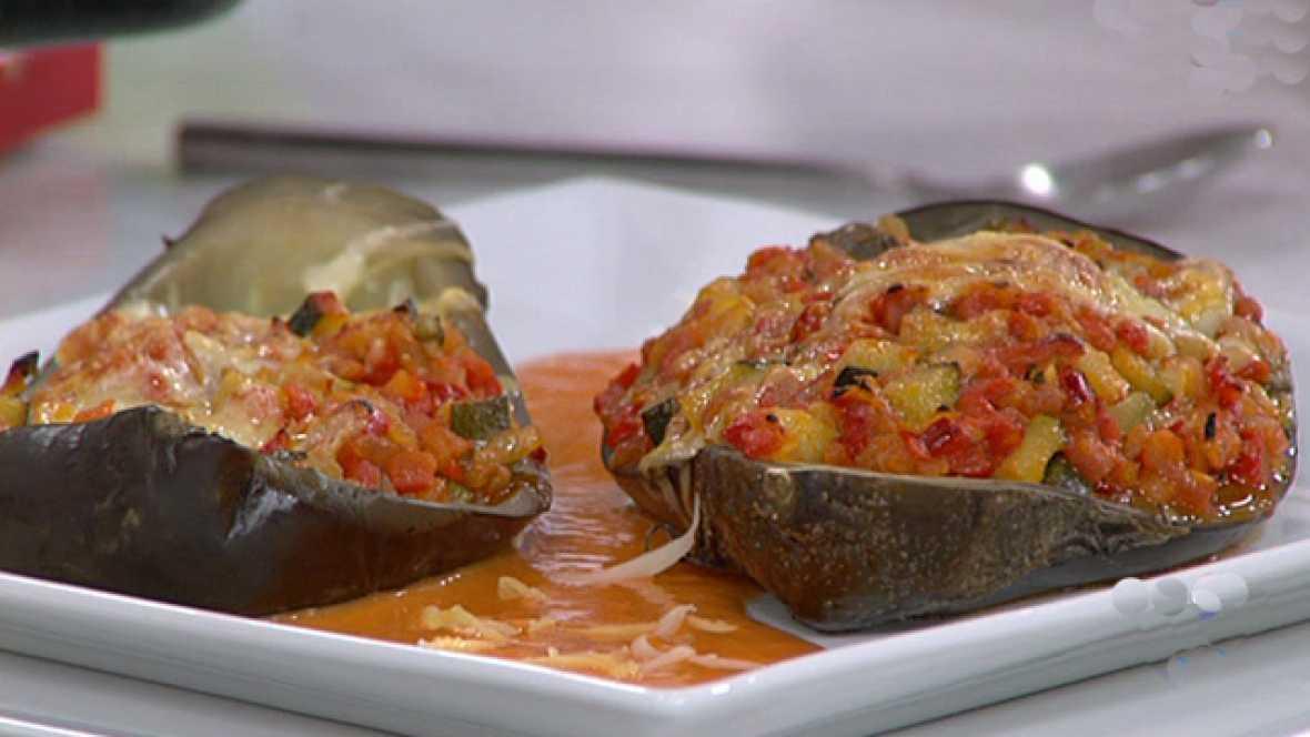 Saber cocinar - Berenjenas rellenas de verduritas (27/04/11)