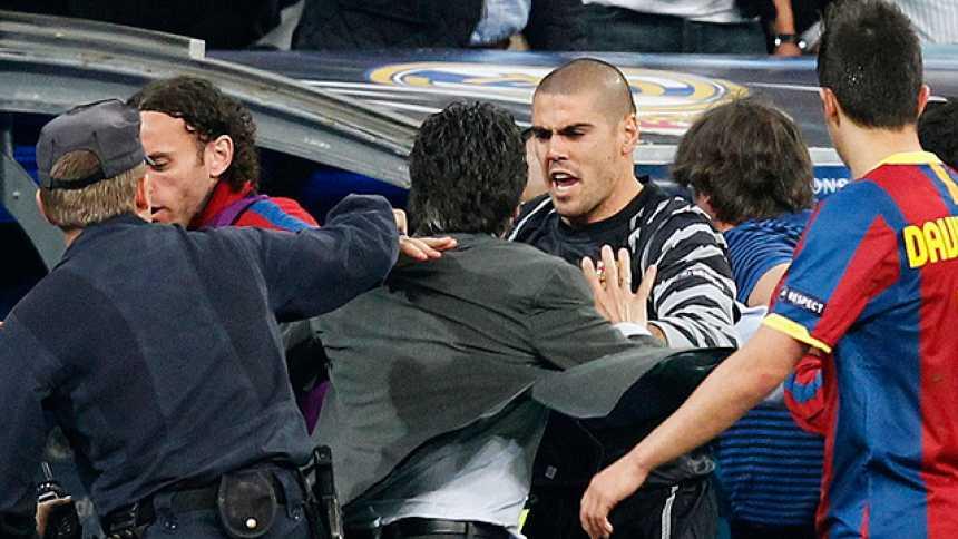 Tres expulsiones y tensión en el Bernabéu