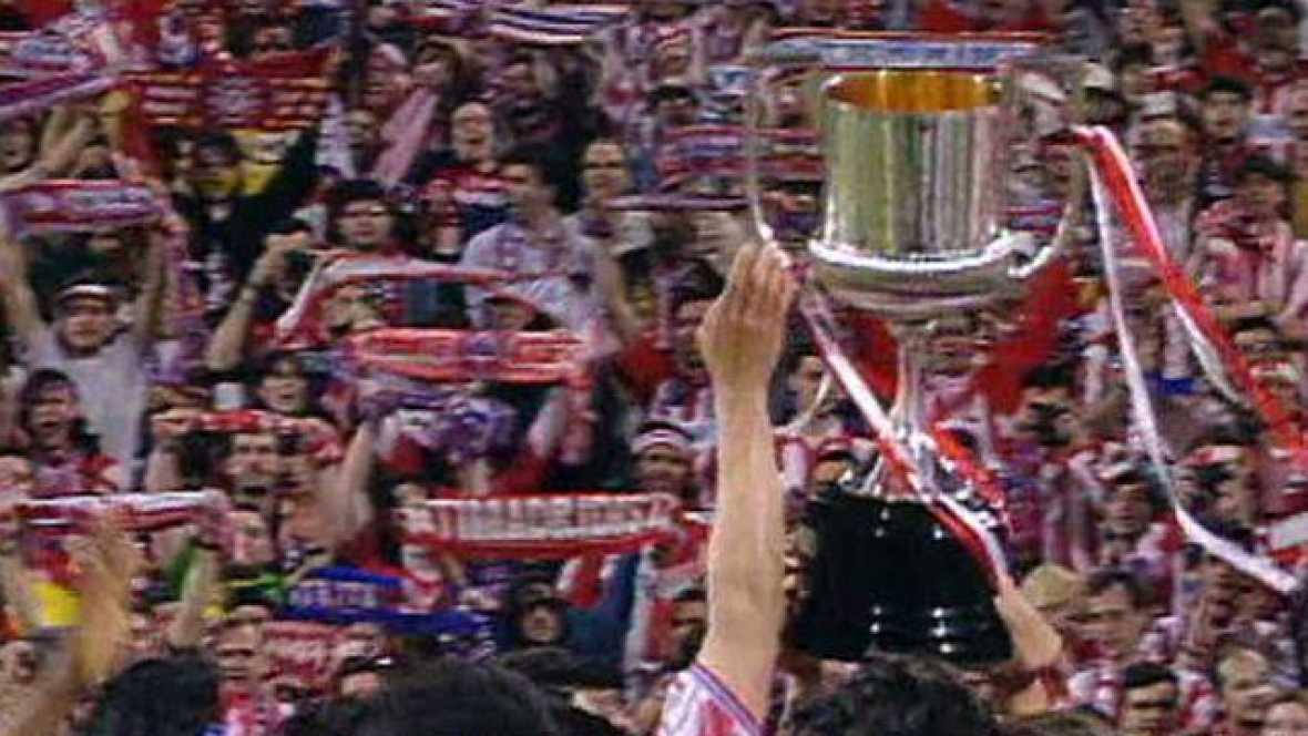 El Atleti gana la Copa del Rey de 1996