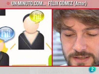 El actor Félix Gómez pasa un nimuto COM Cámara Abierta 2.0