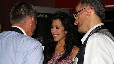 Eurovisión 2011 - Lucía Pérez, invitada de honor en la fiesta de Lena Meyer-Landrut