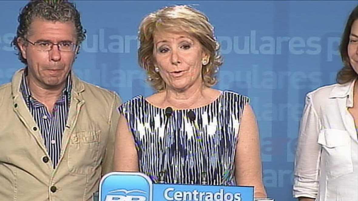 """Esperanza Aguirre garantiza que gobernará """"para todos"""""""
