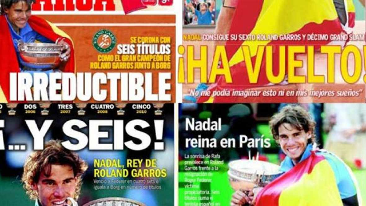 Tras su sexto triunfo en Roland Garros, los diarios de todo el mundo se han deshecho en elogios hacia la figura del tenista español.