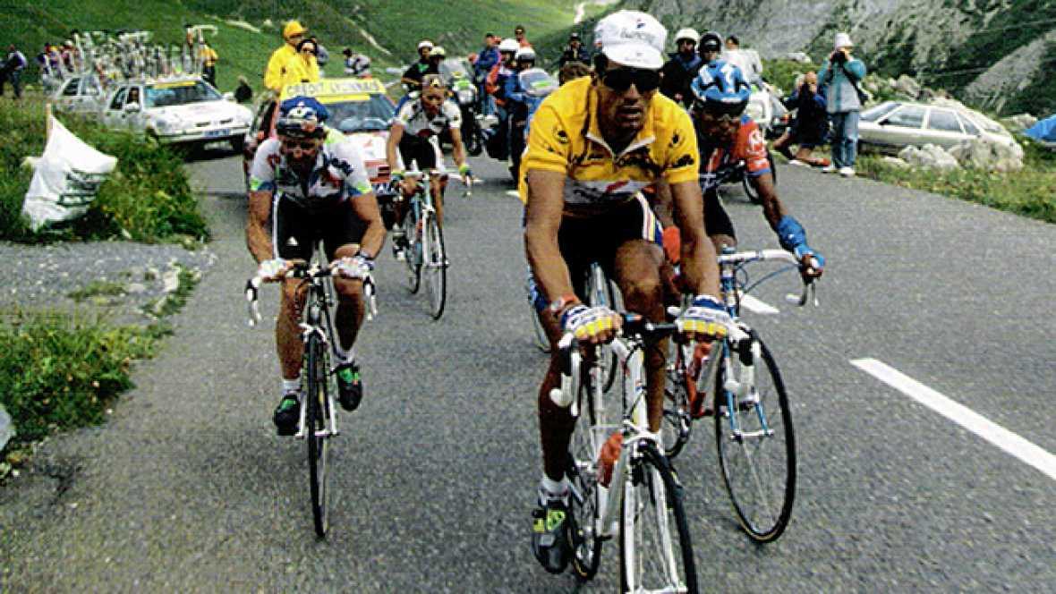 Tras no poder ganar su tercer Giro, en el Tour pronto acalló las dudas venciendo en la primera contrarreloj larga con final en Bergerac: se exhibió nuevamente sentenciando el Tour, sacando dos minutos a Rominger y más de siete minutos a Chiapucci (ad