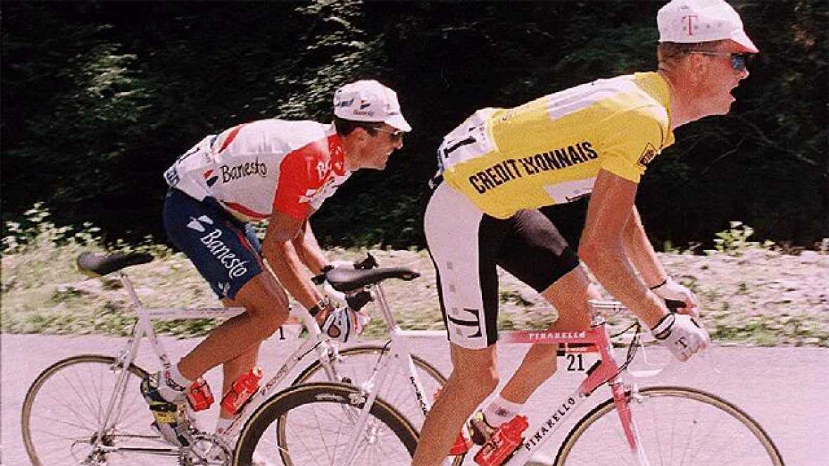 En el Tour de 1996, un danés llamado Bjarne Riis acabó con la leyenda que decía que Indurain era invencible. En la etapa con final en Lourdes Hautacam, el navarro no pudo aguantar el ritmo de Riis y el Tour se acababa para el español.