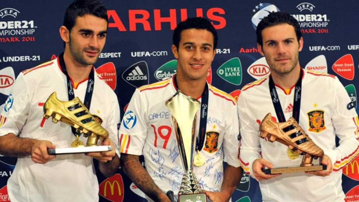 La selección española sub 21 se proclamó campeona de Europa tras ganar a Suiza. Fiesta por todo lo alto de un equipo que promete