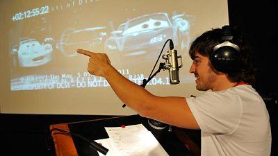 Fernando Alonso, en el doblaje de 'Cars 2'.