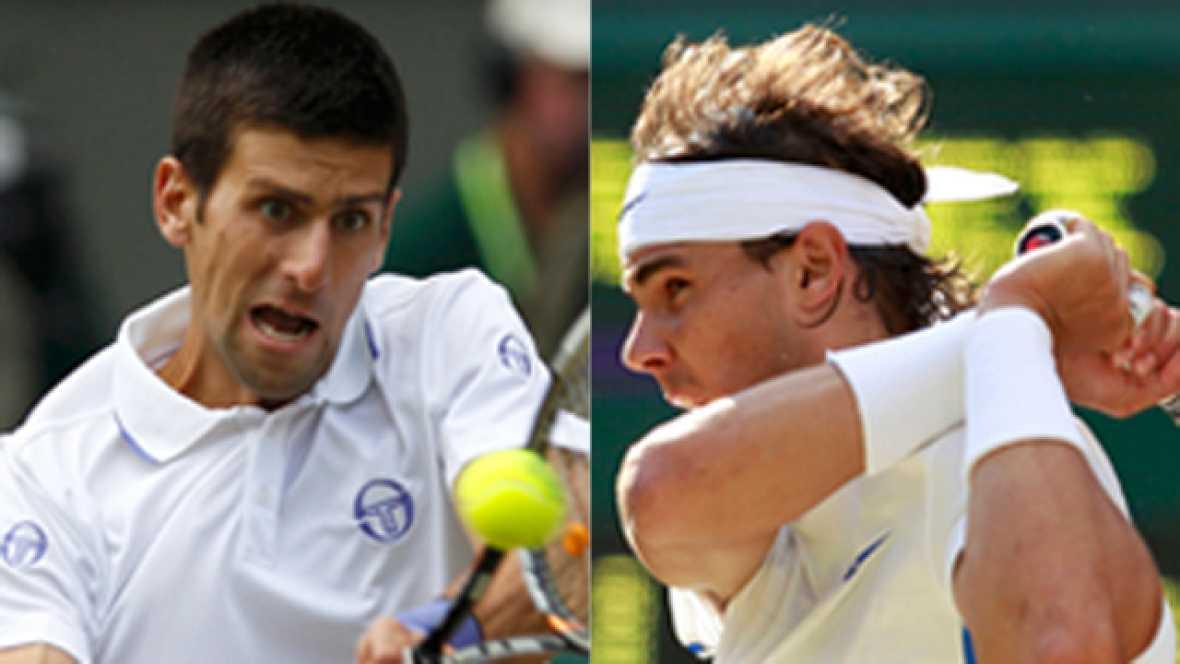 El tenista español Rafa Nadal y el serbio Novak Djokovic disputan este domingo la final de Wimbledon.