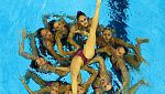Ejercicio español de combo libre de natación sincronizada