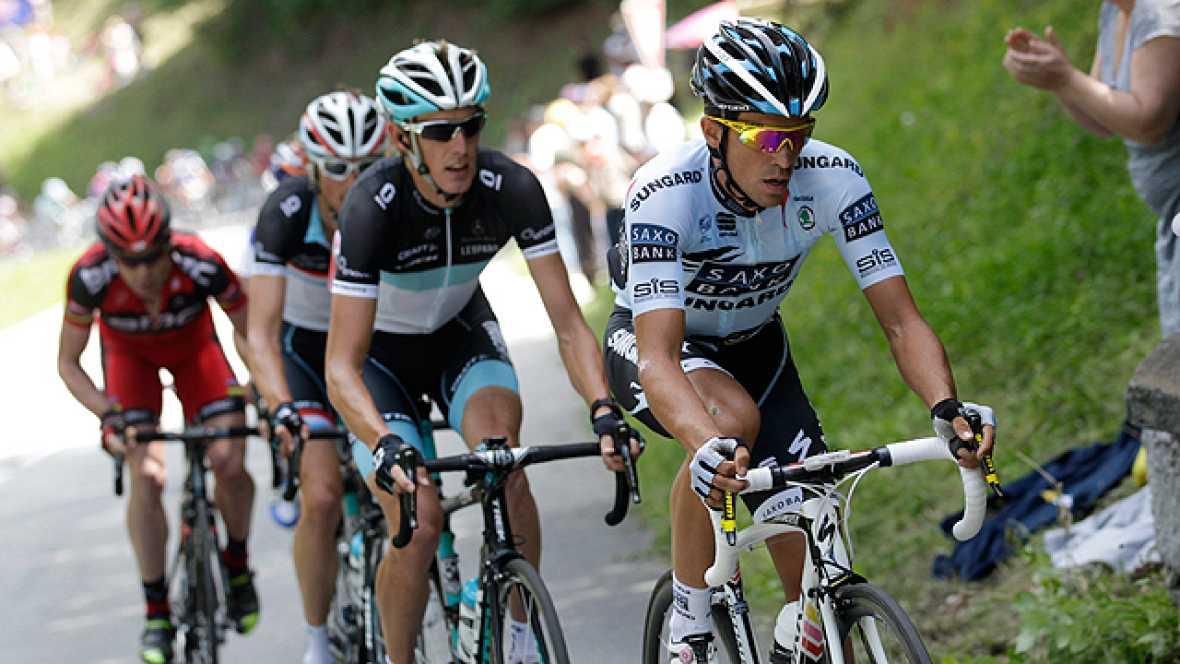 Después del mal día que Alberto Contador sufrió en la 18ª etapa con final en Galibier, el de Pinto espera recuperar la frescura en sus piernas de cara a la etapa con final en Alpe d'Huez.