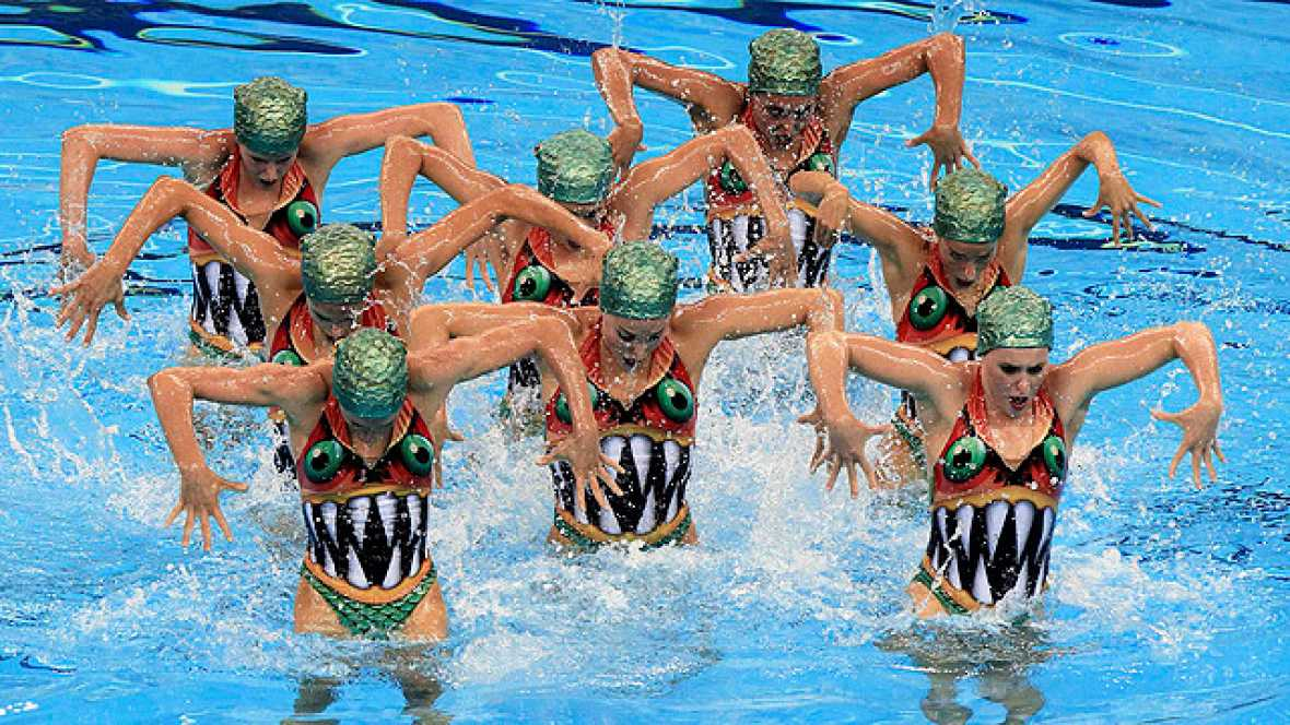 La natación sincronizada española ha cerrado su participación en el Mundial de Shanghai con una nueva medalla de bronce en la final artística por equipos, detrás, de nuevo de China y Rusia, que han conseguido la plata y el oro respectivamente.