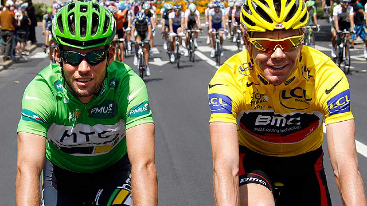 Mark Cavendish se ha llevado la gloria de París al ganar su quinta etapa del Tour de Francia, que ha ganado el australiano Cadel Evans.