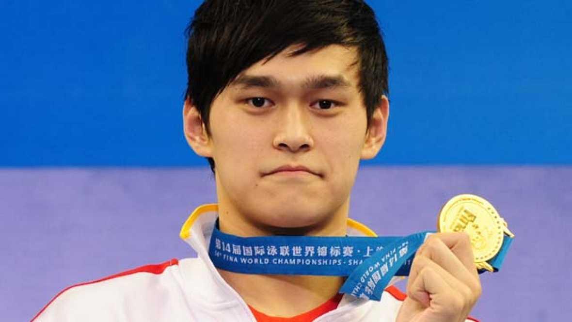 El chino Sun Yang ha batido el récord de los mundo de los 1.500 metros libre con un tiempo de 14:34.14, en la final de los Campeonatos del Mundo 2011.