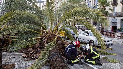 Las intensas lluvias dejan graves daños en Valencia y Cataluña