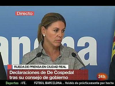 Cospedal ha anunciado el inicio de los procedimientos sancionadores a las farmacias que hicieron huelga
