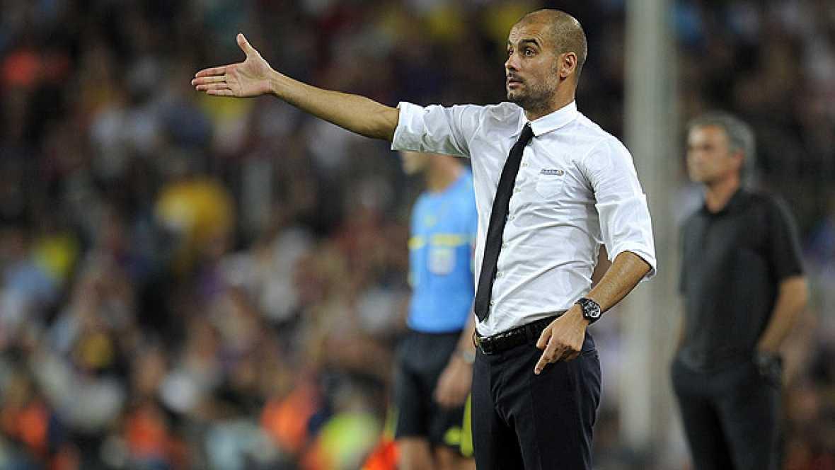 El entrenador del Barcelona ha restado importancia a la ausencia de los jugadores del Real Madrid en la entrega de la Supercopa a los azulgrana y ha felicitado a sus jugadores en la rueda de prensa posterior al partido.