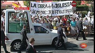 Especial informativo - Visita de S.S. el Papa Benedicto XVI a El Escorial. Primera parte - 19/08/11