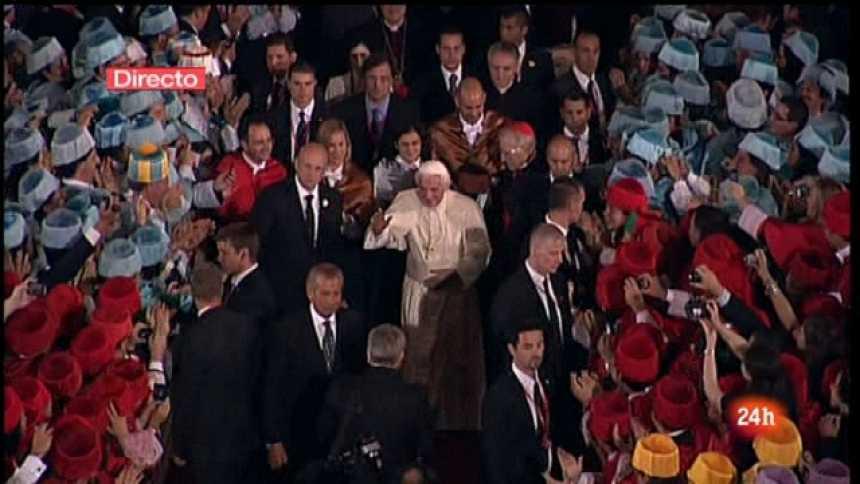 Especial informativo - Visita de S.S. el Papa Benedicto XVI a El Escorial. Segunda parte - 19/08/11