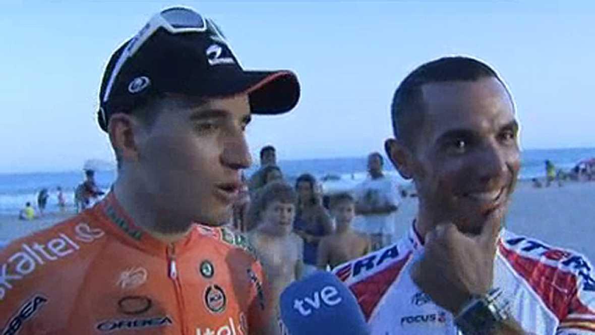 Este sábado comienza la Vuelta a España 2011 y dos de los ciclistas españoles con más opciones para el triunfo final, Igor Antón y 'Purito' Rodríguez, se han despertado con las cámaras de TVE. Ambos corredores sueñan con llegar a Madrid de rojo por l
